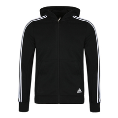 adidas阿迪达斯男大童YB 3S FZ HOOD针织茄克BQ2820