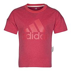 adidas阿迪达斯2017新款女小童LK LOGO TEE短袖T恤BK0956