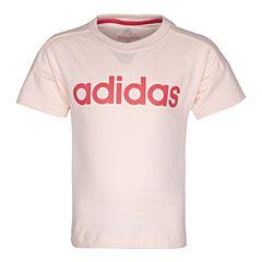 adidas阿迪达斯2017新款女小童LK LIN TEE短袖T恤BP9347