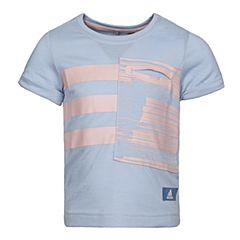 adidas阿迪达斯2017新款女小童LG ID TEE短袖T恤BP9367