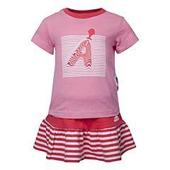adidas阿迪达斯2017新款女婴童IG TEE SET短袖套服BJ8101