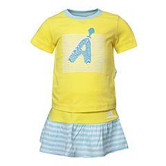 adidas阿迪达斯2017新款女婴童IG TEE SET短袖套服BJ8102