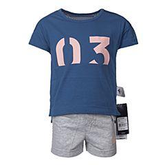 adidas阿迪达斯2017新款女小童LG ID SUM SET短袖套服BP9371