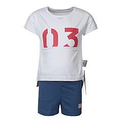adidas阿迪达斯2017新款女小童LG ID SUM SET短袖套服BP9372