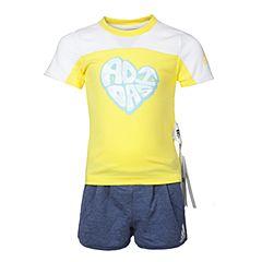 adidas阿迪达斯2017新款女小童LG SS TEE SET短袖套服BS3269