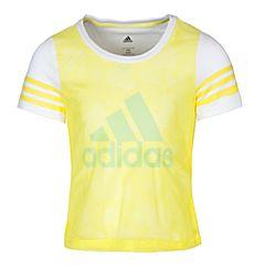 adidas阿迪达斯2017新款女小童LG SS TEE短袖T恤BJ8179
