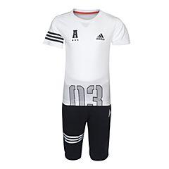 adidas阿迪达斯2017新款男小童LB G TEE 34 SET短袖套服BS3266