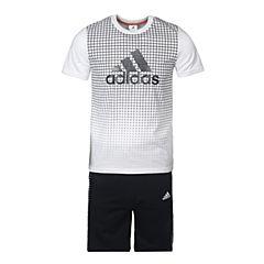 adidas阿迪达斯2017新款男大童YB SS CL TEE SE短袖套服BS0992