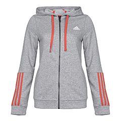 adidas阿迪达斯新款女子COM MS FZ HOOD针织外套BQ9083