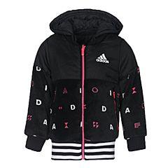 adidas阿迪达斯女小童LG FL REV JKT两面穿梭织夹克BQ0543