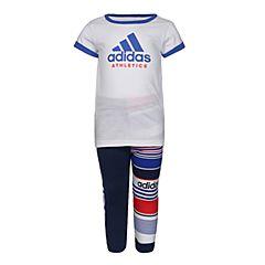 adidas阿迪达斯2018女婴童I MM SID G SET短袖套服CF7436