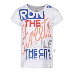 adidas阿迪达斯2018女小童LG GRAPHIC TEE短袖T恤CF6635