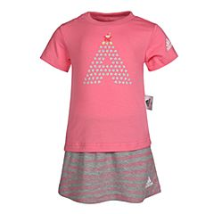 adidas阿迪达斯2018女婴童IG F TEE SET短袖套服CX3473