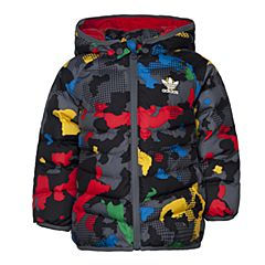 adidas阿迪三叶草2016新款专柜同款男童棉服AZ5587