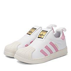 adidas阿迪三叶草2017新款女小童SUPERSTAR 360 C休闲鞋BA7116