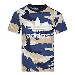 adidas阿迪三叶草2017新款男大童J TKO AOP TEE短袖T恤BK0475