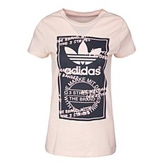 adidas阿迪三叶草2017新款女大童J GRAPHIC TEE短袖T恤BJ9024