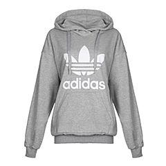 adidas Originals阿迪三叶草女子TREFOIL HOODIE套头衫BP9486
