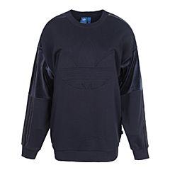 adidas Originals阿迪三叶草新款女子FLOCK SWEATER套头衫BQ8007