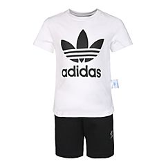 adidas Originals阿迪三叶草2018男小童L TRF STSET短袖套服CF8513