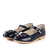 BARBIE/芭比童鞋2015春季新款PU深蓝女小童皮鞋DA1353
