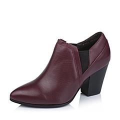 BASTO/百思图秋季专柜同款牛皮女单鞋TJ321CM5