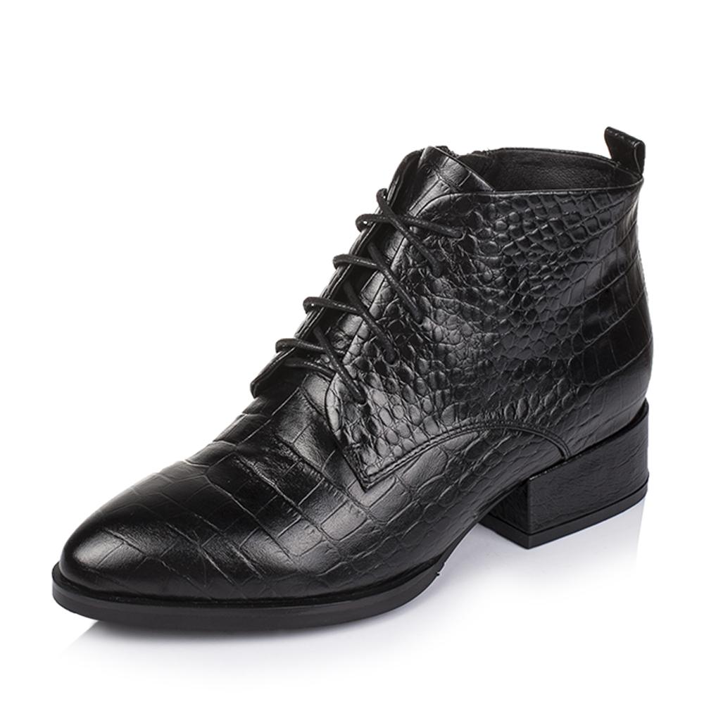 女���*:!&���&d9�-�`_basto/百思图2016冬季专柜同款黑色牛皮女皮靴16d93dd6