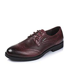 BASTO/百思图夏季专柜同款红色牛皮英伦男单鞋AYF01BM6
