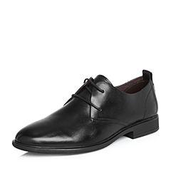 BASTO/百思图2018春季专柜同款黑色打蜡牛皮纯色商务正装男皮鞋BRJ02AM8