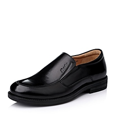 Bata/拔佳冬季专柜同款男士黑色油皮牛皮绅士男鞋82K03DM5