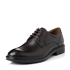 Bata/拔佳冬季专柜同款啡色牛皮男休闲鞋81106DM5