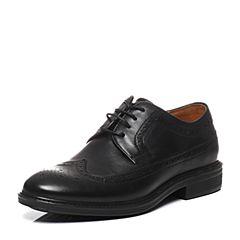 BATA/拔佳春季专柜同款黑色牛皮男单鞋87-26AM6