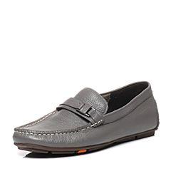 Bata/拔佳专柜同款灰色牛皮男休闲鞋(软)A8S02AM6