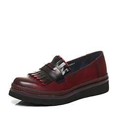Bata/拔佳秋季专柜同款时尚流苏牛皮女单鞋AE120CM6