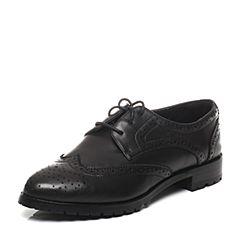 BATA/拔佳2017春季新款黑色羊皮女单鞋16D27AM7