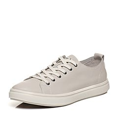 Bata/拔佳2018春专柜同款白色圆头平跟牛皮休闲板鞋男单鞋88P02AM8