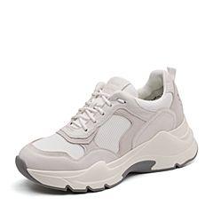 Bata/拔佳2019春新款专柜同款拼色系带女休?#26032;?#28216;老爹鞋ABK24AM9