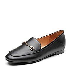 Bata/拔佳2019春新款专柜同款舒适低跟羊皮革乐福女单鞋RBL04AM9