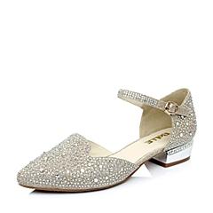 Belle/百丽金色金线纹PU女单鞋2015春季1A-82AK5