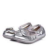Belle/百丽童鞋2015春季新款专柜同款羊皮银色女中童皮鞋94008