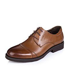 Belle/百丽秋季专柜同款棕色牛皮商务正装男皮鞋德比鞋3UX01CM5