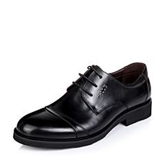 Belle/百丽秋季专柜同款黑色牛皮男单鞋3UX01CM5