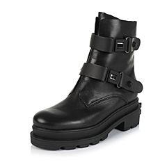 百丽精品bevivo冬专柜同款帅气街头小牛皮女靴MRF60DZ5