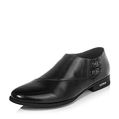 Belle/百丽2016秋季黑色牛皮男单鞋A1631CM6