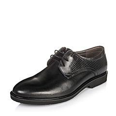 Belle/百丽秋季黑色油皮牛皮男单鞋33M08CM6