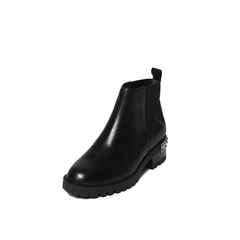 Belle/百丽冬季专柜同款黑油皮牛皮女短靴BLQ44DD6