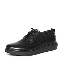 Belle/百丽专柜同款冬季牛皮男休闲鞋4PT01DM6