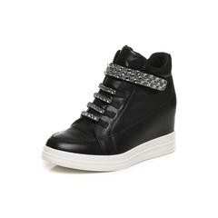 Belle/百丽冬季专柜同款黑牛皮革女皮靴BHY40DD6