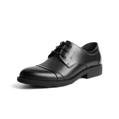 Belle/百丽秋季专柜同款黑色牛皮商务正装男单鞋3UX01CM5