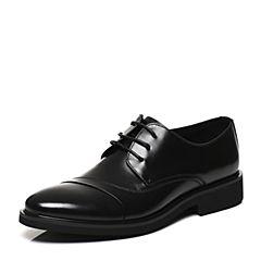 Belle/百丽春专柜同款黑色时尚正装牛皮男皮鞋4TU11AM7